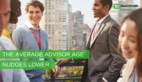 The average advisor age nudges lower